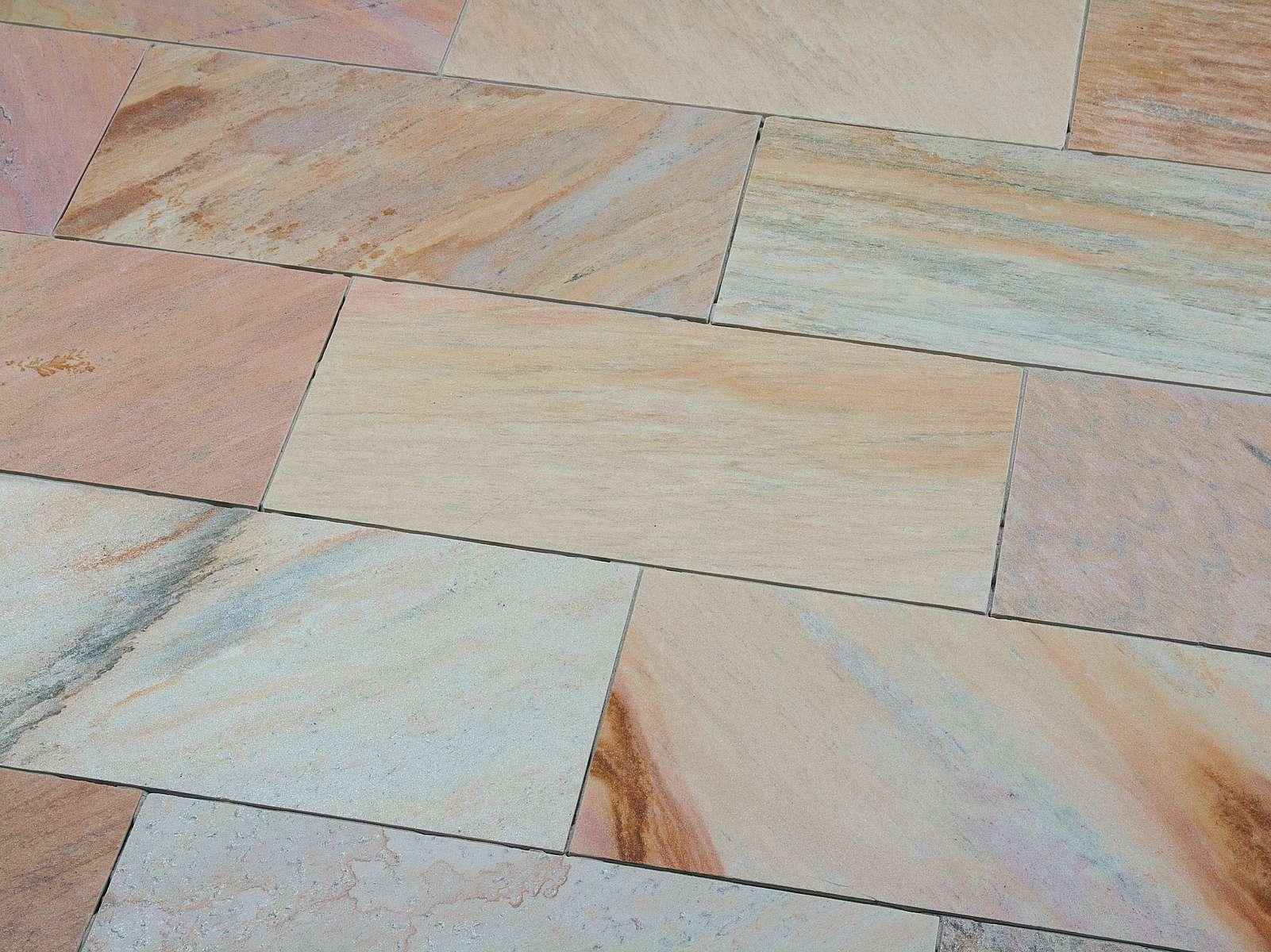 Terrassenplatten Scandic Yellow Quarzit