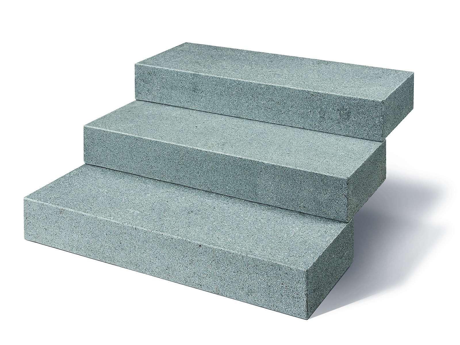 Blockstufe mit gesägt/geflammter Oberfläche in hochwertigem Granit Kristall anthrazit. Die Granitblockstufen sind absolut robust und pflegeleicht. Sehr gutes Preisleistungsverhältnis.