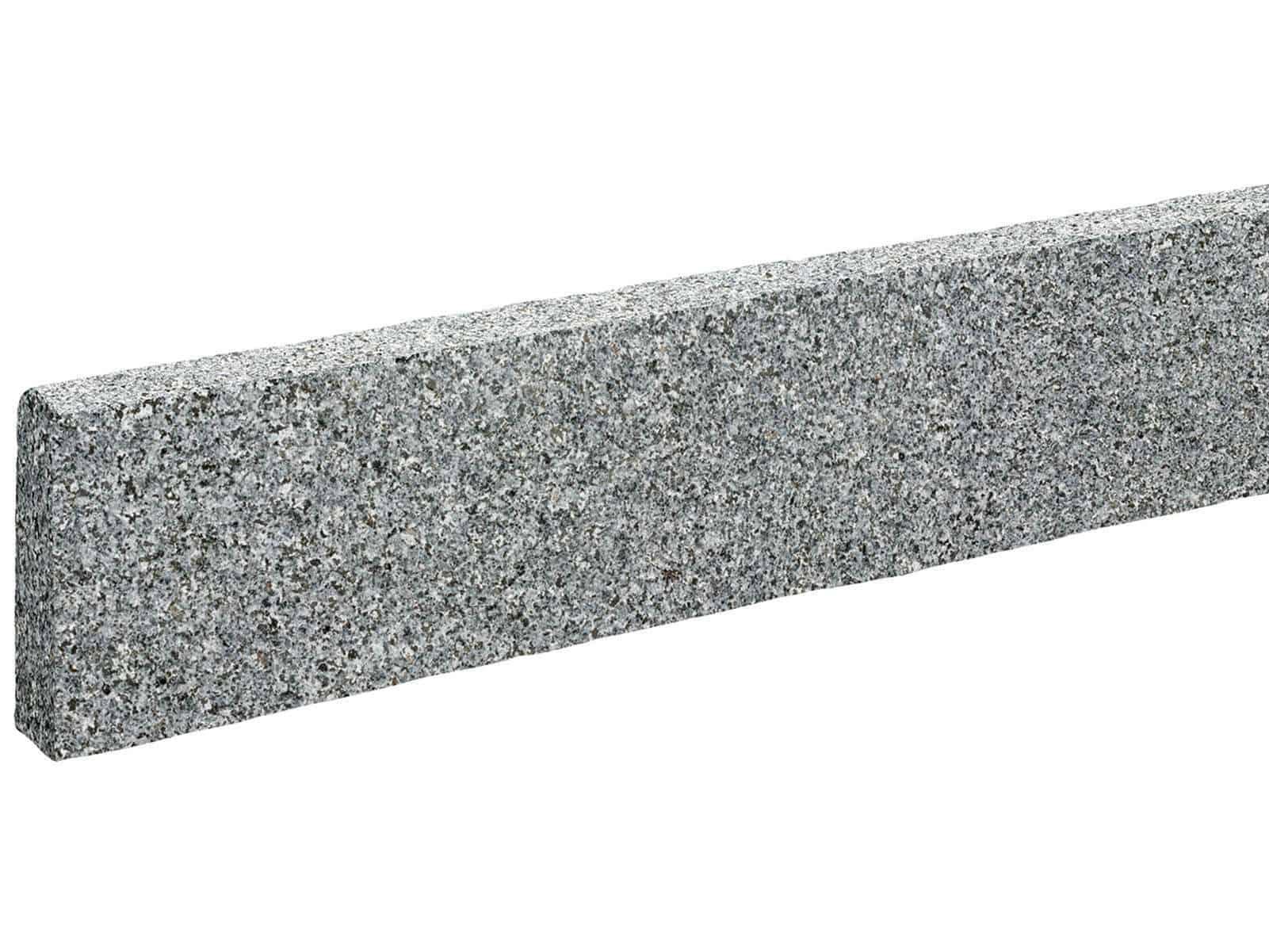 Randstein edel Granit Kristall antrhrazit ges‰gt geflammt