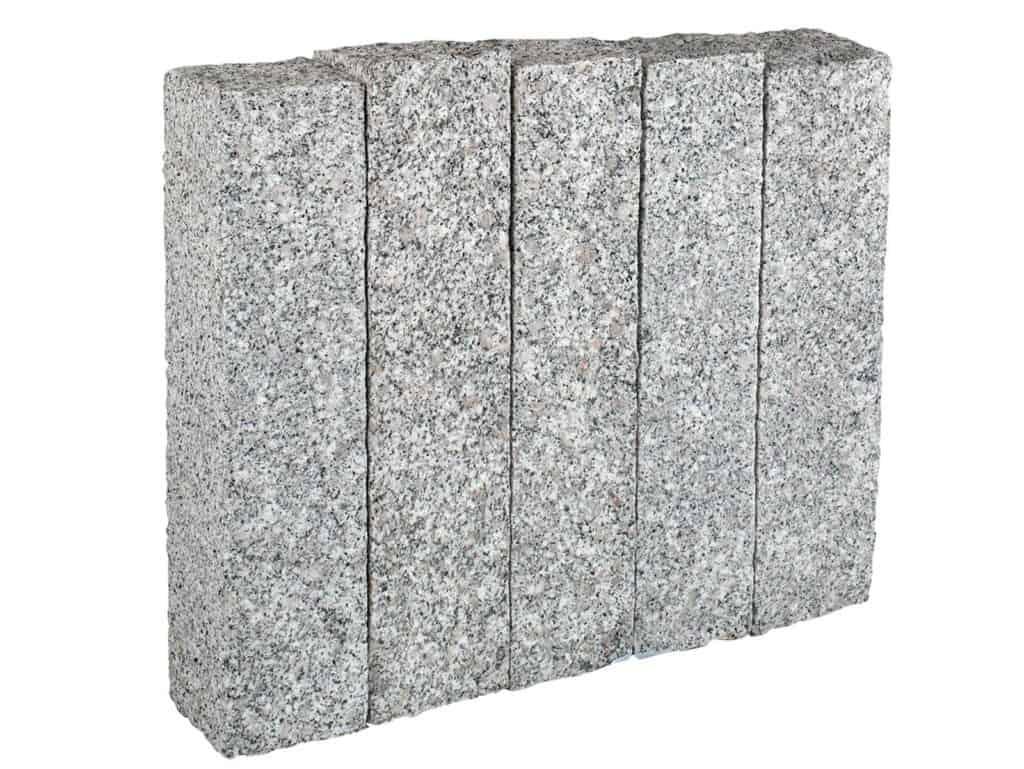 Palisade Granit Elegant grau aus Granit Kristall Elegant. Die fein gestockten/gespaltenen Granitpalisaden sind sehr präzise und Maflhaltig.