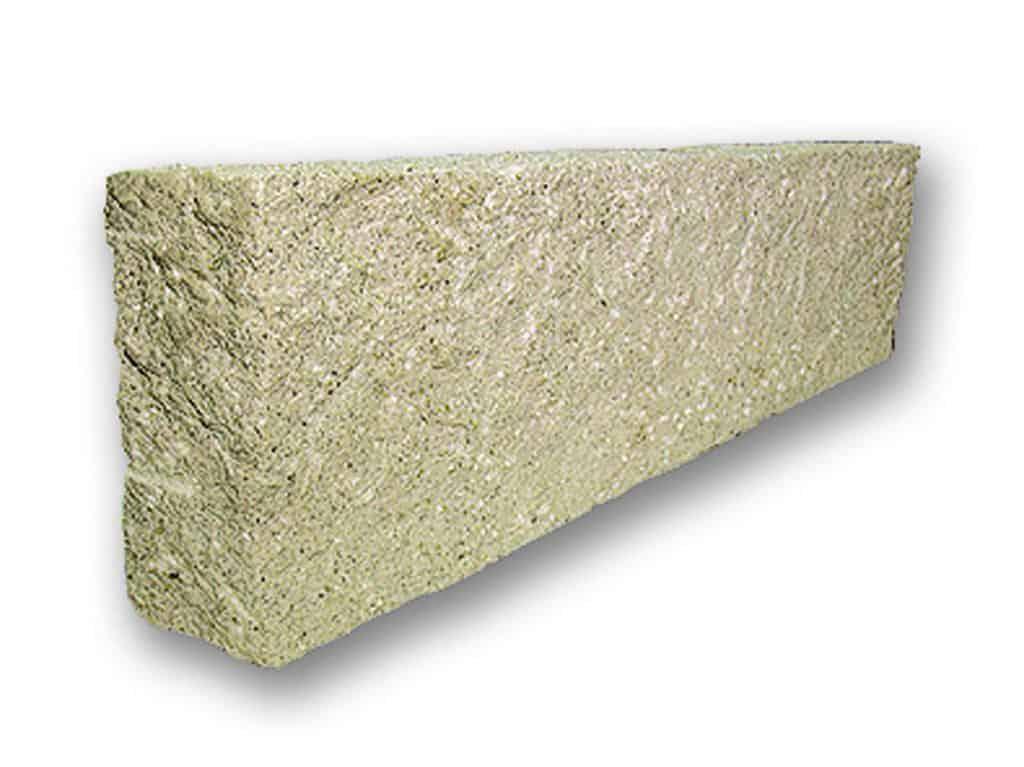 Randstein Granit Kristall gelb gespitzt
