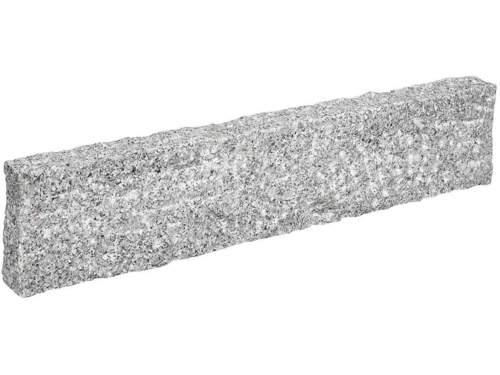 Leistenstein Granit Kristall grau