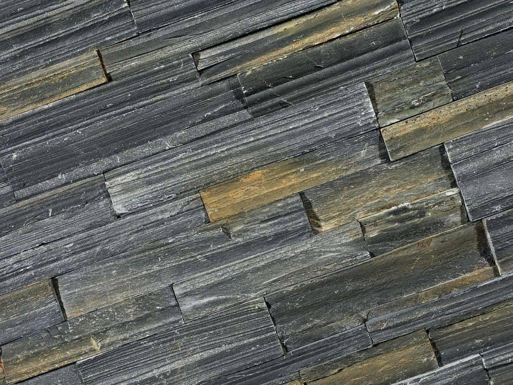 Naturstein Verblender Black Slate