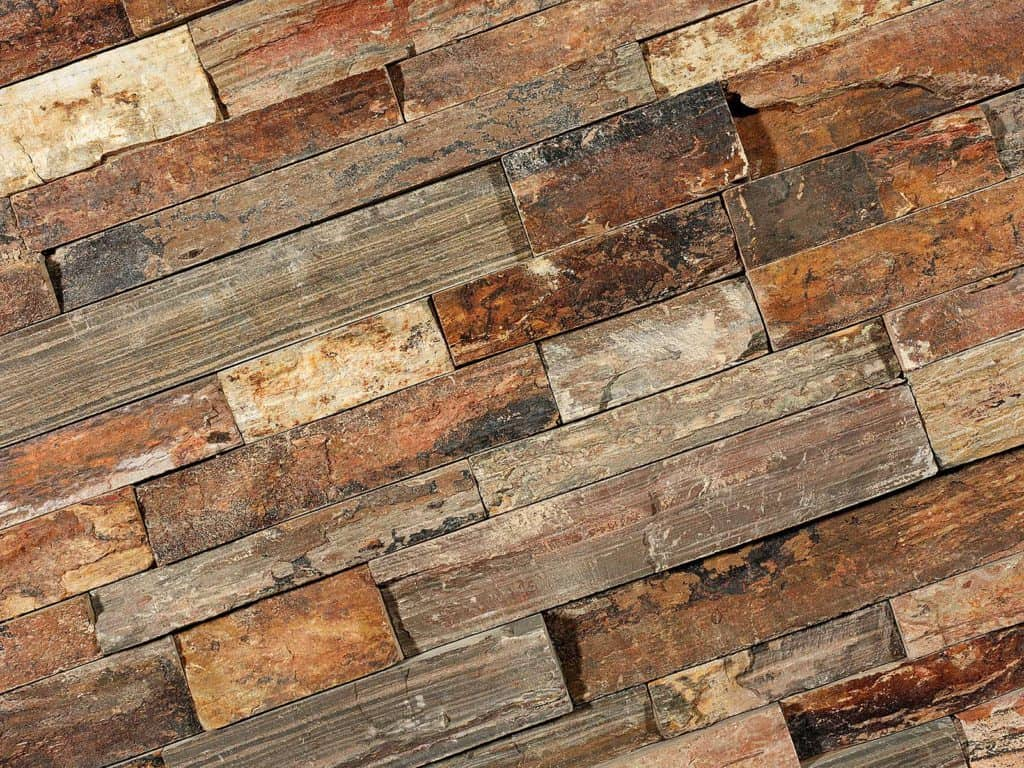 Naturstein Verblender Rusty Slate