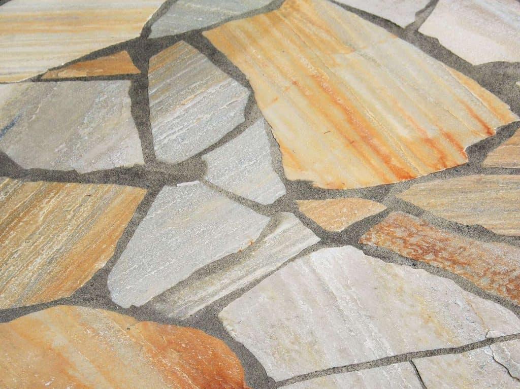 Bruchsteinplatte Scandic Yellow Quarzit