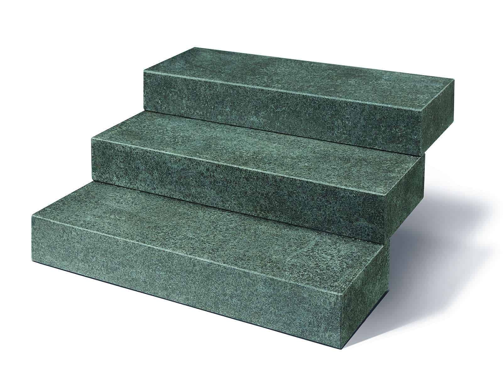 Blockstufe Basalt Kristall schwarz