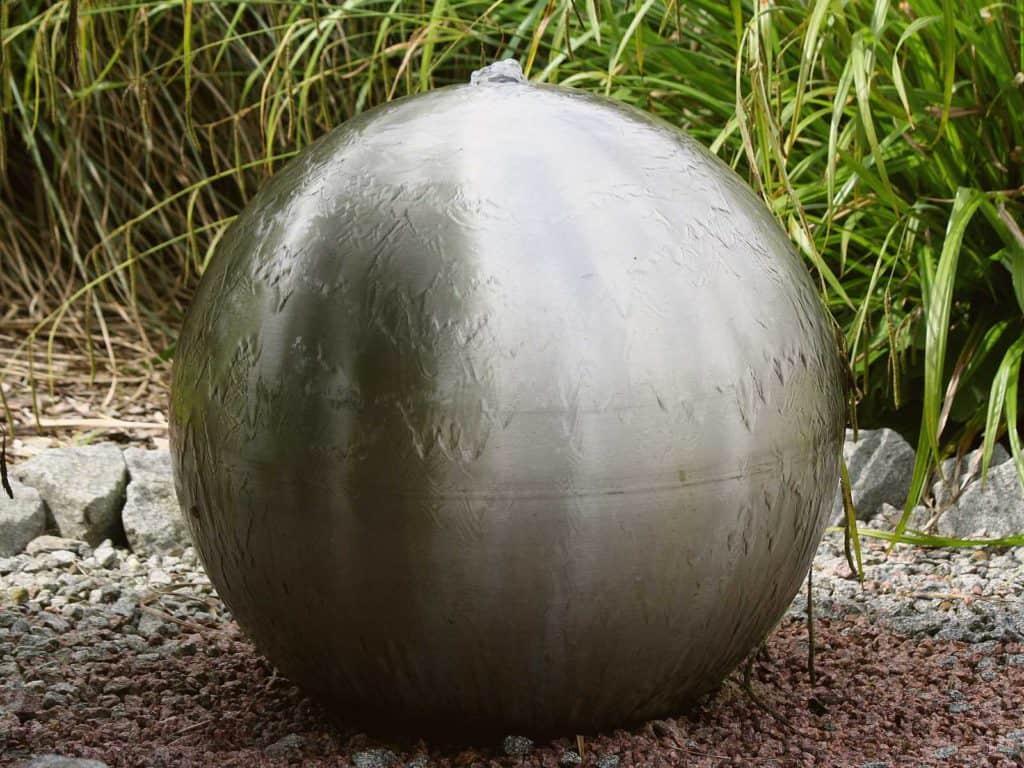 Gartenbrunnen Kugel Edelstahl