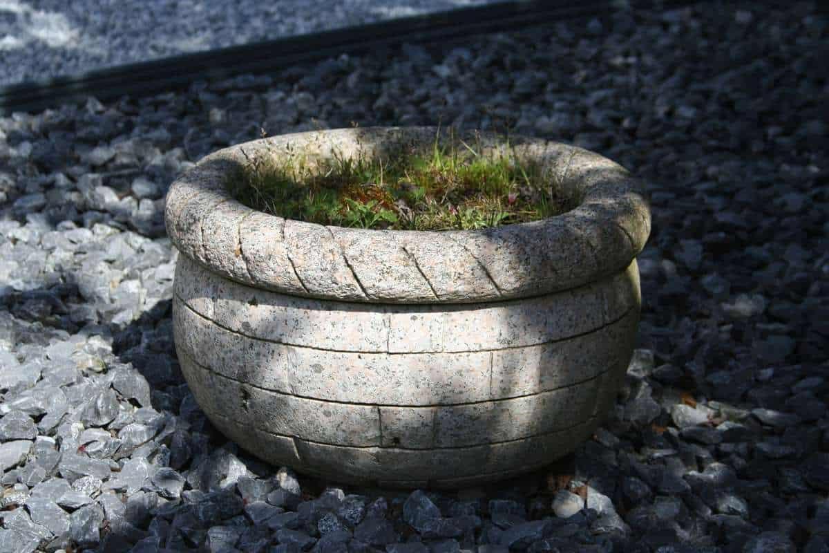 Pflanztrog Korb rund