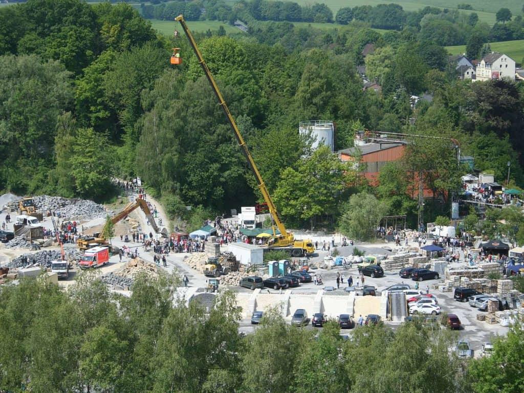 Luftbild der Steinbruchtage