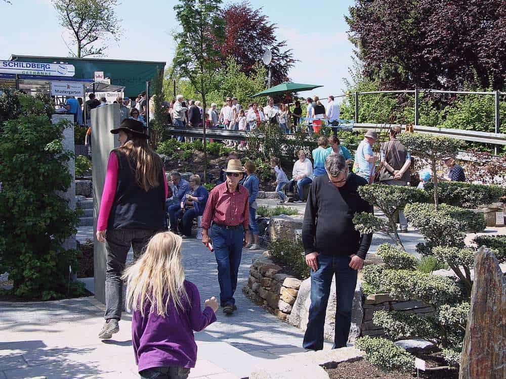 Gartenausstellung von Natursteinbrüche Bergisch Land.