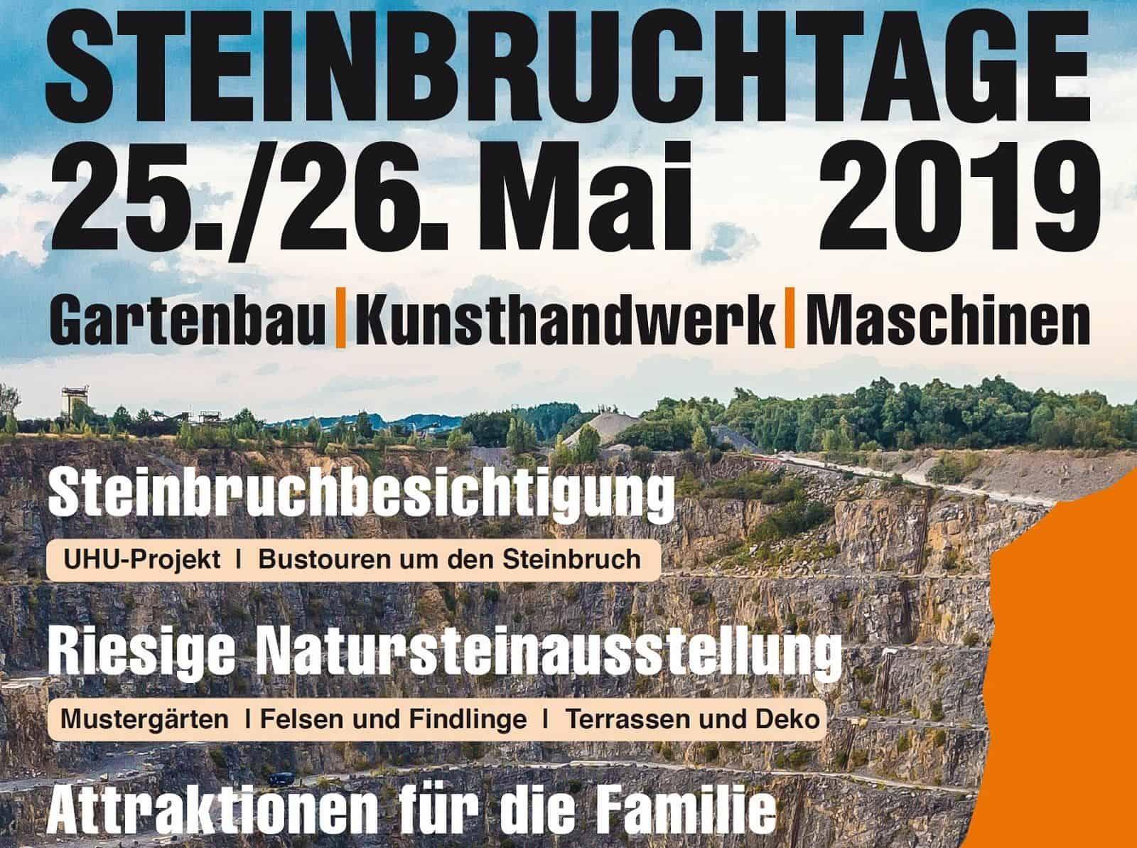 Steinbruchtage 2019 Natursteinbruch Bergisch Land